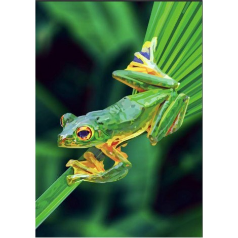 EXCLUSIVE Elvira Clement - Frog on Leaf
