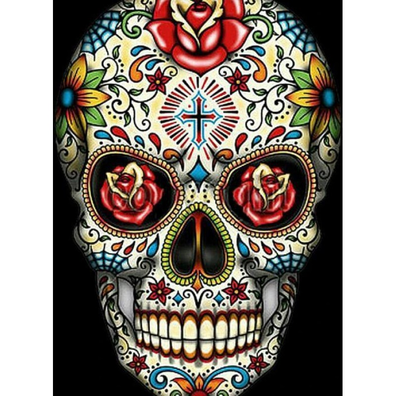 Colourful Skull Diam...