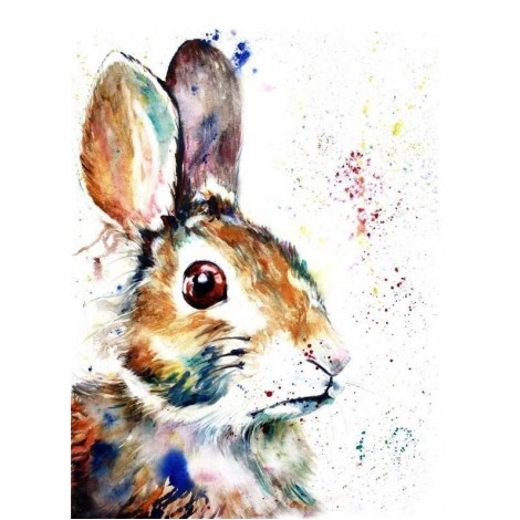 Colourful Easter Rabbit Diamond Painting Kit